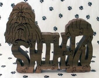 Shih Tzu Handmade Wood Fretwork Jigsaw Puzzle