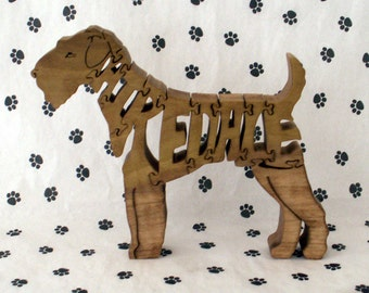Airedale Handmade Fretwork Jigsaw Puzzle Wood Dog