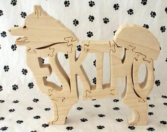 American Eskimo Dog Handmade Wood Fretwork Jigsaw Puzzle