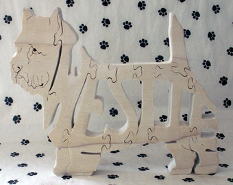 West Highland Terrier Handmade Fretwork Jigsaw Puzzle Wood Dog by dogWoodbyDave on Etsy