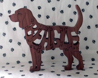 Beagle Handmade Fretwork Jigsaw Puzzle wood dog