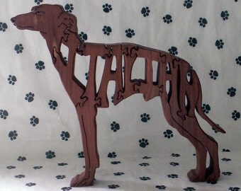 Italian Greyhound Handmade Fretwork Jigsaw Puzzle Dog Wood