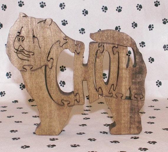 Chow Handmade Fretwork Jigsaw Puzzle Wood Dog by dogWoodbyDave on Etsy