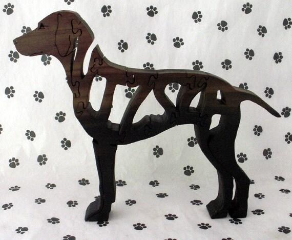 Vizsla Handmade Fretwork Jigsaw Puzzle Wood Dog