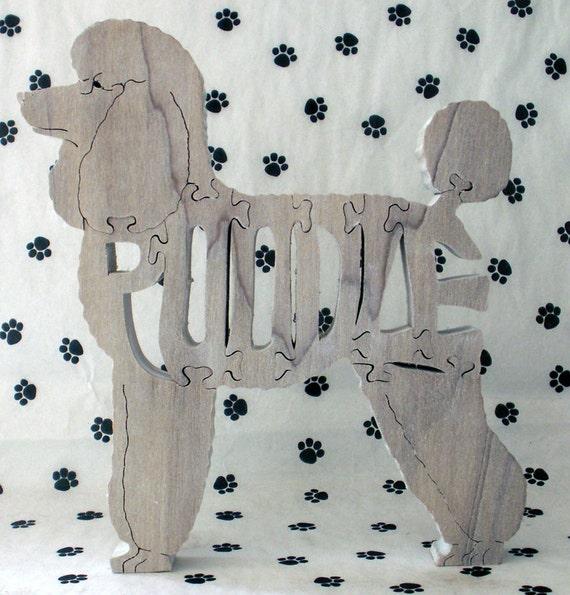 Poodle Handmade Fretwork Jigsaw Puzzle Wood Dog by dogWoodbyDave on Etsy
