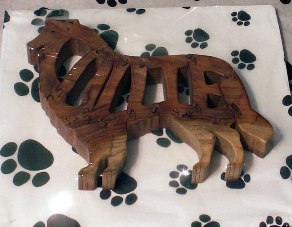 Collie Handmade Fretwork Jigsaw Puzzle Wood Dog