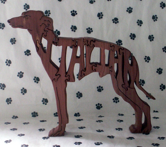 Italian Greyhound Handmade Fretwork Jigsaw Puzzle Dog Wood