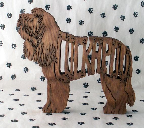 Cockapoo Handmade Wood Fretwork Jigsaw Puzzle by dogWoodbyDave on Etsy