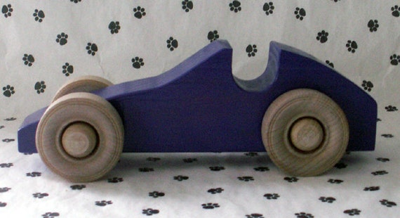Handmade Wooden Mid Sized Racer Style Toy Car
