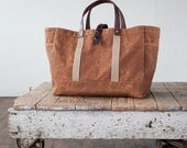 Tool / Garden Tote in Rust Waxed Canvas