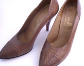 70s shoes - topstitched Calderone high heel shoes