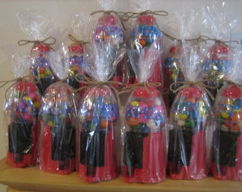 Personalized Party Favor Gumball Machines- Weddings, Communions, Sweet 16s ,Christenings , Birthdays