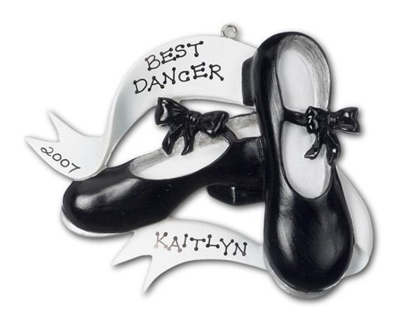 Personalized Christmas Ornament Tap Shoes