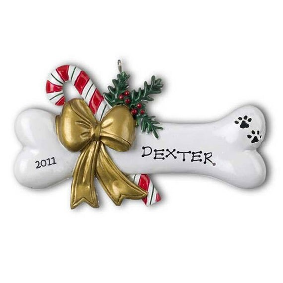 Personalized Christmas Ornaments-Pet Dog Puppy Dog Bone