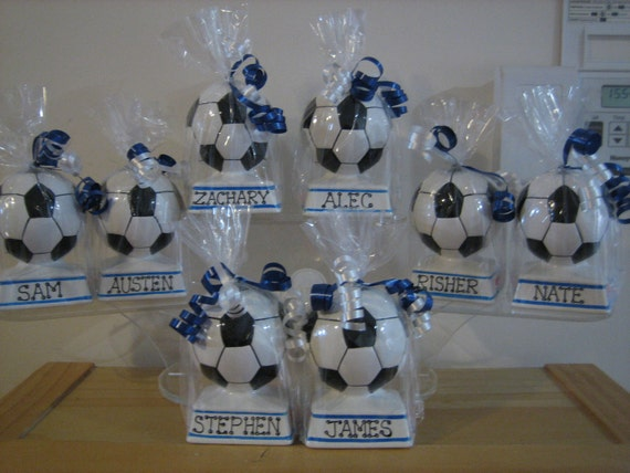 Personalized Kids Party Favors Sports Piggy Banks Soccer