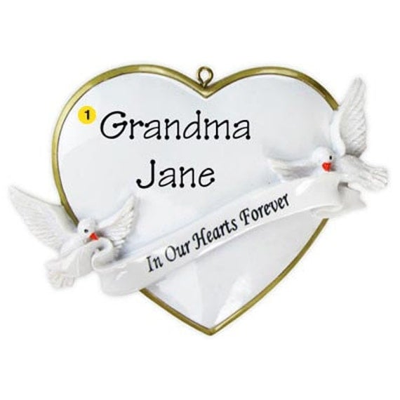 Religious Christmas Ornament: Personalized Christmas Ornaments Religious/ Memorial Heart-In
