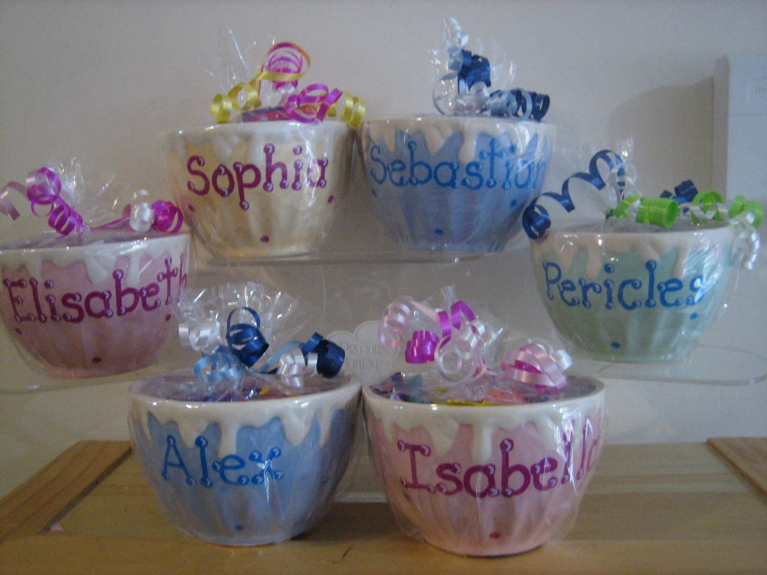 Personalized Ceramic Ice Cream Bowl Cup Kids Party