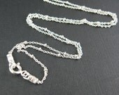 Sterling Silver Chain Necklace- Finished , Ready to Wear Necklace - Ball Chain, Bead Chain ( 36 inches - 1 piece)