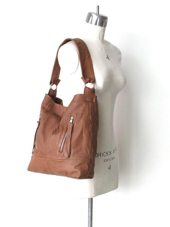 Eco Friendly The Dakota Recycled Leather Handbag in Soft Brown Handmade By 14X