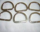 6 D Rings  1 inch