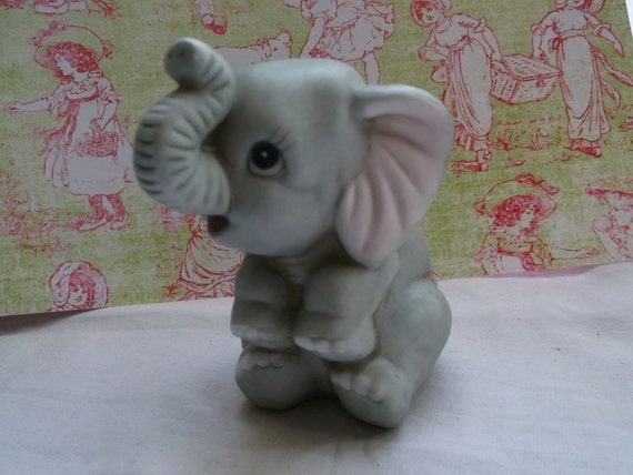 Homco Baby Elephant Retired Home Interiors