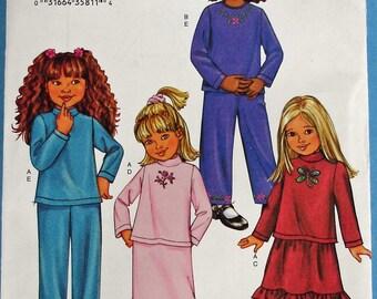Girls Top, Skirt, Pants Pattern Butterick 3674