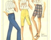 PANTS, SHORTS PATTERN, 1960's, Simplicity 6450,  Misses Waist 25 inch, Portportioned Height, Vintage Sewing