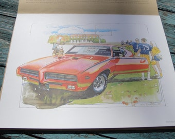 KEN DALLISON Automotive Prints, AC-Delco Promotion, 1982, Vintage Automotive Collectible