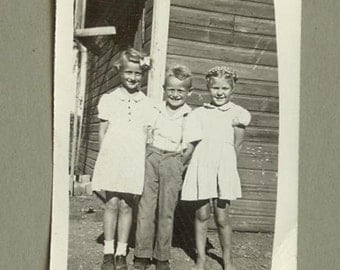 FAMILY SNAPSHOTS, Pair, 1940's, Locket Size Faces, Vintage Black and White Photos