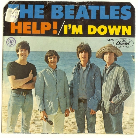 Beatles 45 Record And Picture Sleeve Help I M Down