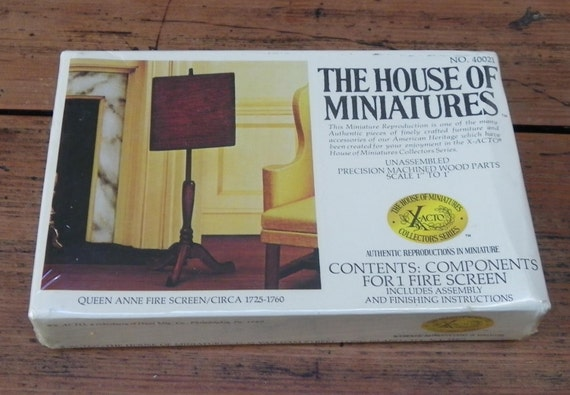 MINIATURE  FIRE SCREEN  Kit, 1980, Unopened, Vintage Dollhouse Accessory
