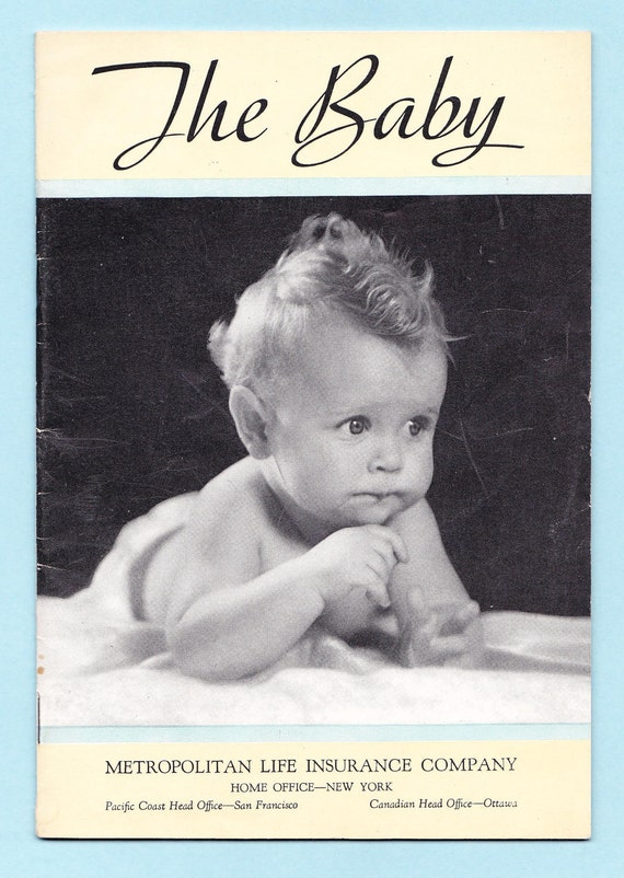 THE BABY BOOKLET, Met Life Insurance Giveaway, 1950s Advertising Giveaway