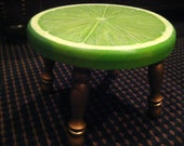 Hand Painted Lime Slice Foot Stool