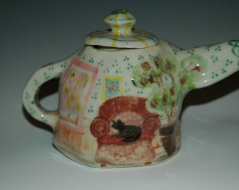 Matisse Inspired Porcelain Tea Pot