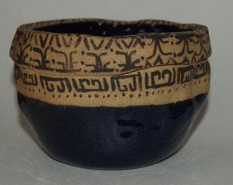 Dark Blue Handmade Ceramic Bowl