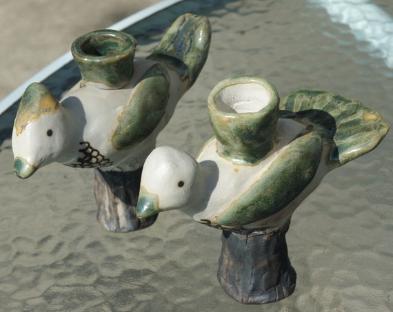 Pair of Birds Candlestick Holders