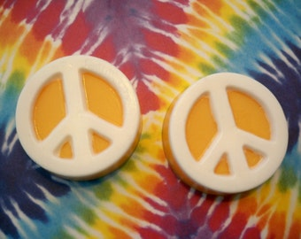 Peace Sign 2oz soap with Tangerine and Sweet Orange Essential Oils