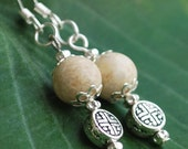 Naturally Pretty- Silver Riverstone Earrings