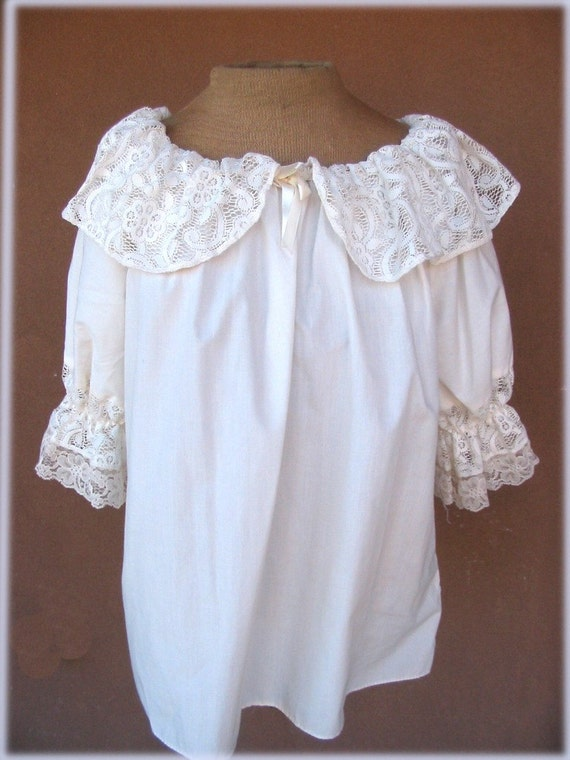White Lace Peasant Blouse 93