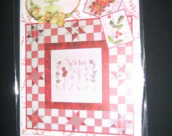 Winter Sampler Embroidery pattern by Crab-apple Hill 30 x30