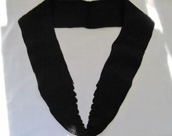 Vintage Black Corded Collar