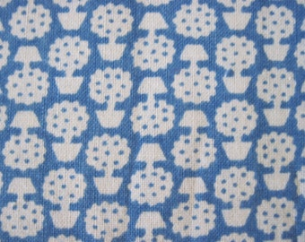 Blue and White 30's Print Fabric