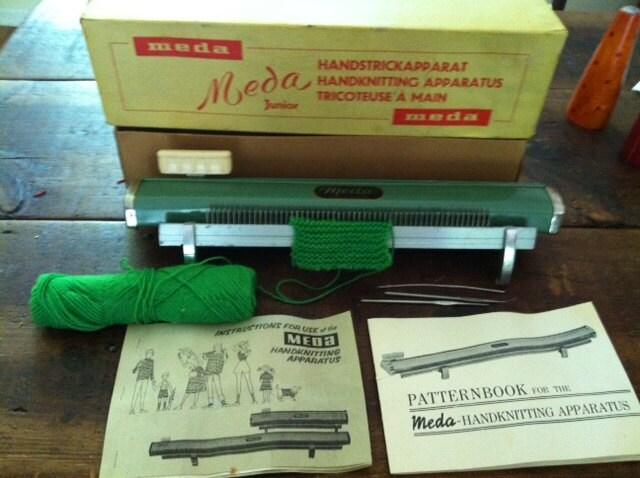 Vintage Knitting Machine : Vintage knitting machine by meda