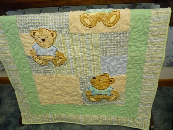 Quilt, Baby, Three Teddy Bears