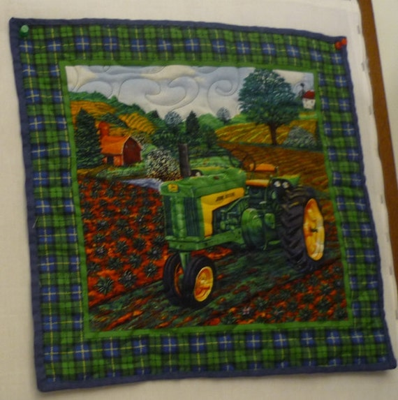 Wall Hanging / Place Mats, John Deere country farms, handmade, country homes, unique gifts, place matt