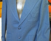Heathered Blue Western Styled HOLLYWOOD CALIFORNIA Clothes Vintage Blazer - 43R