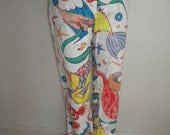 Vibrant Miro Inspired VERSACE Couture Vintage Stretch Cotton Jeans - 31