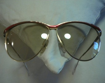Air About Town 80's Pink and Gold Vintage CHRISTIAN DIOR Sunglasses