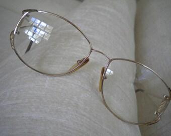 Brown Enamel on Gold CHRISTIAN DIOR Vintage Eyeglass Frames