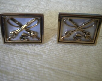 Fisherman Rod and Reel SWANK Vintage Cuff Links